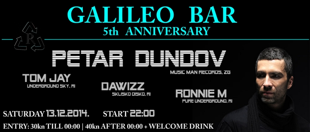 5th ANNIVERSARY GALILEO BAR | PETAR DUNDOV