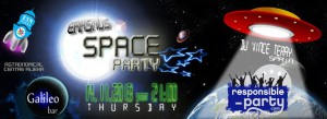 A bit different type of party this time. SPACE PARTY!